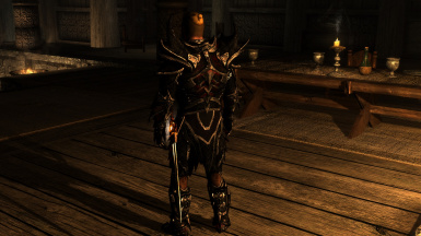 Back with Daedric armor