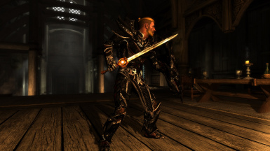 Side view with Daedric armor