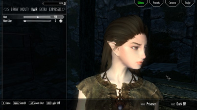 Cute Human Dark Elf RACEMENU Preset
