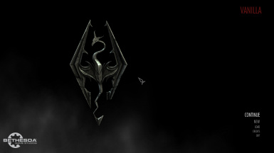 Map Of Skyrim In The Dark - HD Main Menu Replacer
