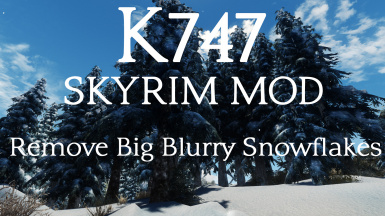 Remove Big Blurry Snowflakes