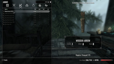 Wooden Bow and Arrows - Hunterborn Addon