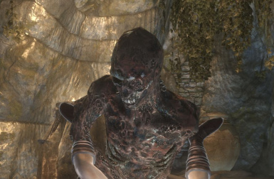 Mimic of the burnt corpse