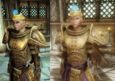 Colour Comparison with and without ENB