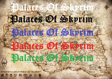 Palaces Of Skyrim