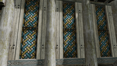 Stained glass windows in Dragon's Reach