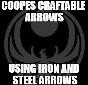Craftable Arrows Using Iron and Steel Arrows