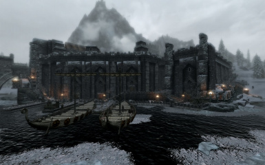 Windhelm Docks Pathways