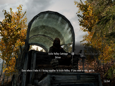 Riften cart to Icicle Valley