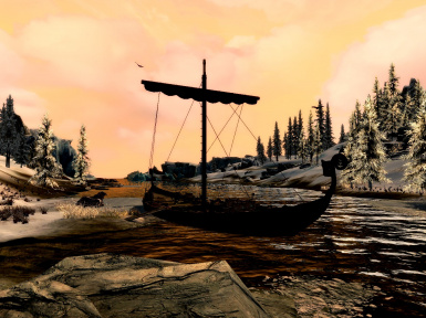 Boat to Smuggler's Haven from Windhelm