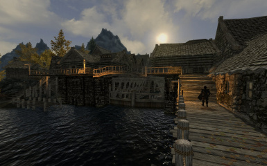 Riften Docks Pathways 04