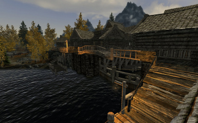 Riften Docks Pathways 09