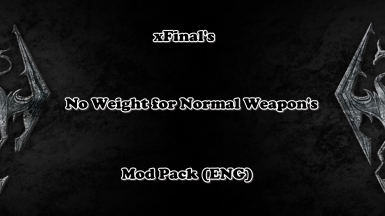 ENG-No Weight for Normal Weapons