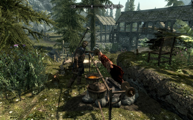 Riverwood Expansion_Hanors House_a voiced follower with companions