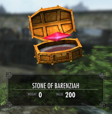 Stones of Barenziah Weigh Nothing