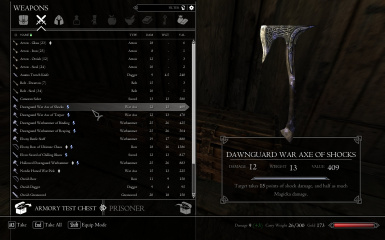 Enchanted Dawnguard Armory