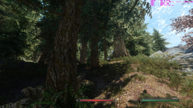 Large Lush trees with Enhanced Landscapes and DynDoLod