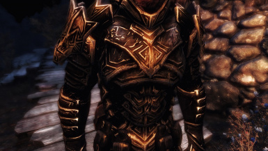 Dragon Carved Armor Set - Weathered Retexture