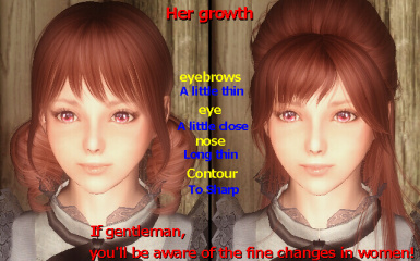 Meia face the difference detail