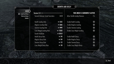 Adjust nearly every aspect of the mod