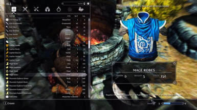 blue telvanni mage robes cloth at skyrim nexus mods and community