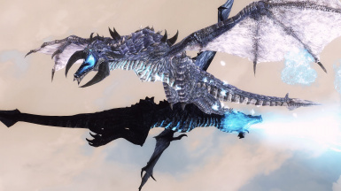 Lunar Dragon VS Daedric Titan