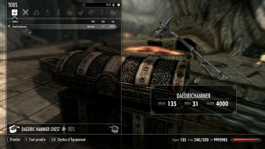 Cheated Daedric Hammer and Dwemer Sword