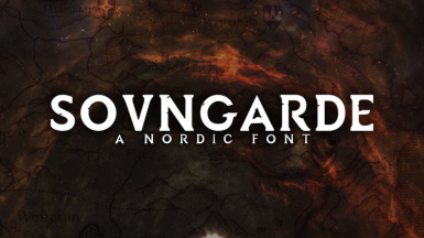 Sovngarde - A Nordic Font