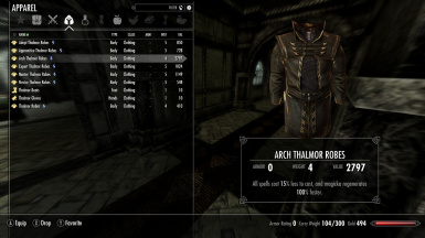Thalmor Equipment Overhaul