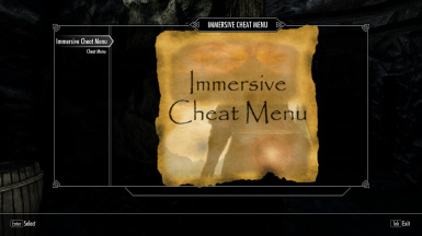 Immersive Cheat Menu