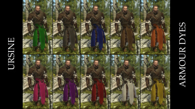 Ursine Armour Dyes