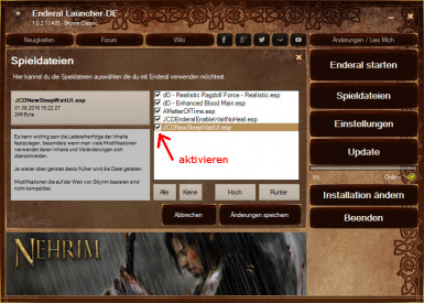 activate New-Sleep-Wait-UI in Enderal - pic from DV-Version