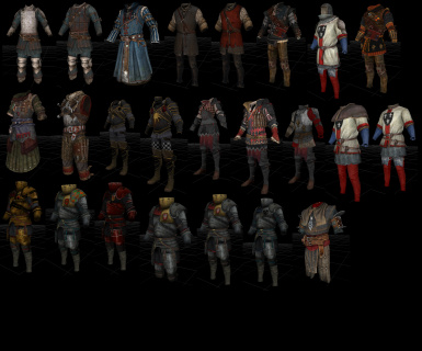 witcher armors chart
