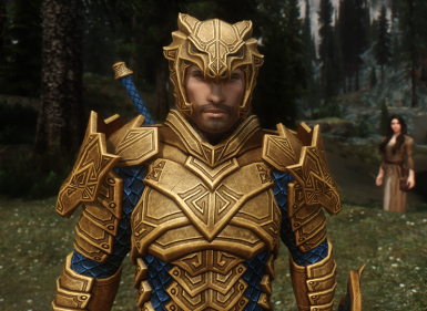 Dragon Carved Armor Recolor Regal Gold And Blue And Winter Dragon