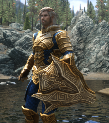 Dragon Carved Armor Recolor Regal Gold And Blue And Winter Dragon At Skyrim Nexus Mods And Community Starting at level 40, dragonplate armor pieces can be found, very rarely, as random loot from chests and containers. dragon carved armor recolor regal