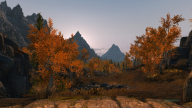 ELFX weathers - sun sets behind mountains