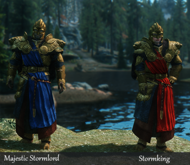 Stormlord Recolors - Immersive Armors Compatible - 2 Sets Fr