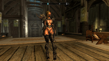 Remodeled Daedric Armor - 7B Bombshell - TBBP converted to NiOverride Heels System