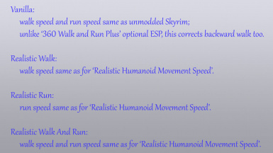 360 Walk and Run Plus - Speed Options