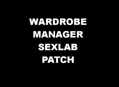 Wardrobe Manager - SexLab Patch