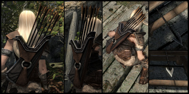 Smooth neutral and armor friendly Orcish Quiver and Arrows