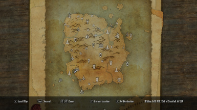 Paper World Map for Solstheim at Skyrim Nexus - mods and community