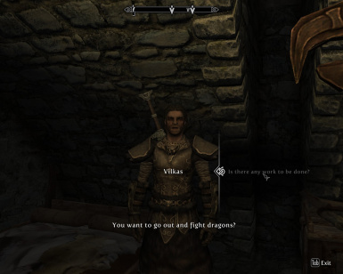 After Vilkas Encountered a Dragon