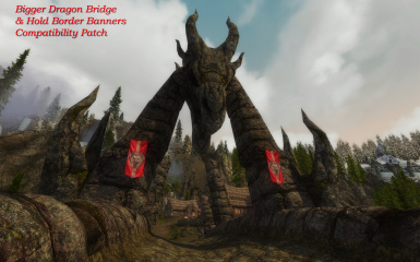 Bigger Dragon Bridge - Hold Border Banners Patch and Fire