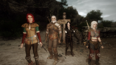 Geralt and Friends in Enderal