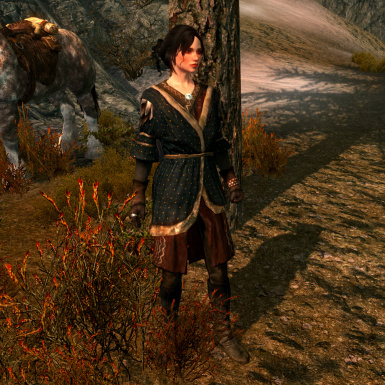 Gilded Doublet Extended Skirt Texture