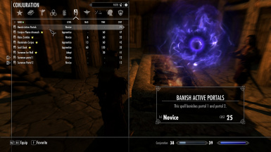 The spells -1 highlighted and 2 equipped-