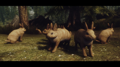 Rabbits of Skyrim in Russian