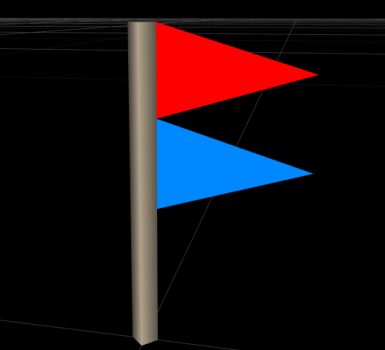 A contested hold flag