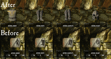 Maty''s Mithril Armor Completed - Leveled list integration and Ground Models
